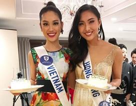 Phương Linh bất ngờ được tổ chức sinh nhật tại cuộc thi Quốc tế