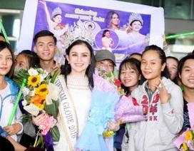 Hoa Hậu Janny Thủy Trần được chào đón nồng nhiệt khi vừa về Việt Nam