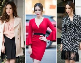 Á hậu Thụy Vân khoe thời trang streetstyle ngọt ngào, nữ tính
