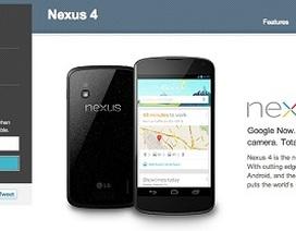 """Điện thoại Nexus 4 """"cháy hàng"""" chỉ trong vòng một giờ"""