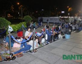 Ngủ giữa trời đêm để chờ mua Galaxy S5 tại TPHCM