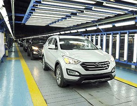 Hyundai SantaFe lắp ráp trong nước - Khởi điểm từ 1,13 tỷ đồng