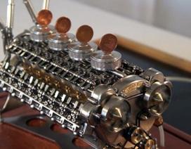 """Xem """"bàn tay vàng"""" chế tạo động cơ W32 nhỏ nhất thế giới"""