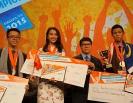 Nữ sinh Ngoại thương đoạthuy chương Đồng cuộc thi MOSWC