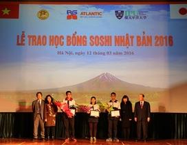 Học sinh Hà Nội nhận học bổng Soshi 2016