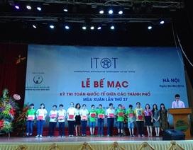 197 học sinh nhận giải kỳ thi Toán Quốc tế