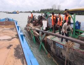 Bắt giữ 3 phương tiện khai thác cát trái phép trên sông Đồng Tranh