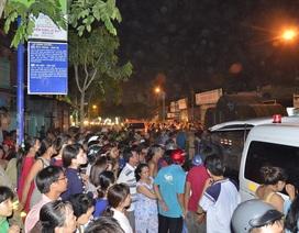 Hàng trăm người vây kín xem công an xử lý vụ tai nạn giao thông