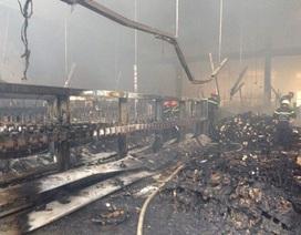 Hơn 160 tấn chỉ nguyên liệu bị thiêu rụi trong vụ cháy khu công nghiệp