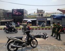 2 cô gái nghi bị tạt axit giữa đường