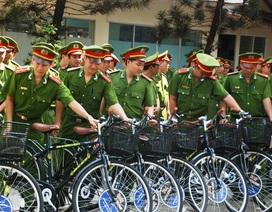 Công an TPHCM tuần tra bằng xe đạp