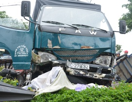 Ô tô tông 4 xe máy, 1 người tử vong