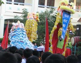 Ấn tượng màn múa lân trong lễ khai giảng chào năm học mới