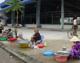 Chê chợ tiền tỉ, tiểu thương kéo ra bán ở lề đường