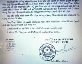 Xử phạt 3 người Trung Quốc thu mua thủy sản trái phép