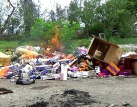 Tiêu hủy hơn 3.000 gói thuốc lá ngoại nhập lậu