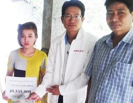 Hơn 49 triệu đồng đến với gia đình em Trương Kim Thoa