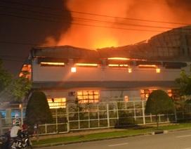 Cháy lớn thiêu rụi hàng nghìn m2 nhà xưởng công ty mũ