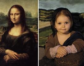 """Ngắm những bức họa nổi tiếng theo """"phiên bản nhí"""""""