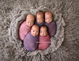 Bà mẹ sinh 5 khoe những đứa con đẹp như thiên thần