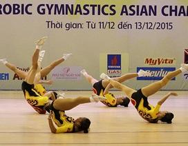 Aerobic Việt Nam giành 5 HCV giải vô địch các nhóm tuổi châu Á 2015