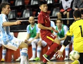 Đội tuyển futsal Việt Nam thua nhẹ Argentina trước thềm World Cup