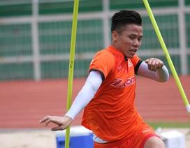 Tranh thủ nắng đẹp, đội tuyển Việt Nam chạy hết công suất