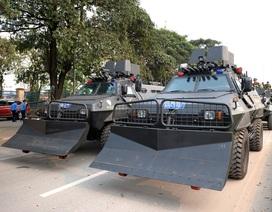 Dàn xế khủng chống bạo động của Công an TP Hà Nội