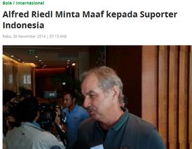 Báo chí Indonesia chỉ trích nặng nề HLV Riedl
