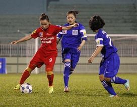 Hà Nam giành chiến thắng đậm tại giải bóng đá nữ quốc gia