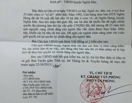 UBND tỉnh Nghệ An chỉ đạo xử lý vụ hơn 20 năm chưa có sổ đỏ