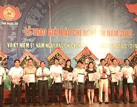 Phóng viên báo điện tử Dân trí đạt giải Báo chí Nghệ An