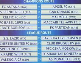 Bốc thăm play-off Champions League 2015-16: Man Utd dễ thở