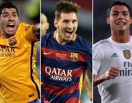 Thống kê: Màn trình diễn của ba ngôi sao sáng nhất châu Âu 2014-15