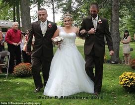 Bố đẻ mời bố dượng cùng dắt tay con gái lên lễ đường