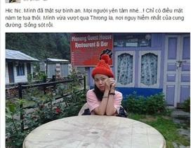 Phóng viên Việt Nam kẹt lại Nepal sau động đất đã gọi điện về nhà