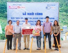 Báo ĐS&PL xây nhà ăn, bếp ăn cho học sinh dân tộc tỉnh Lào Cai