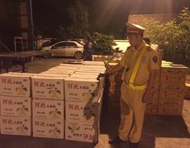 """Bắt giữ hơn 7 tấn hoa quả các loại """"tuồn"""" từ Trung Quốc vào Việt Nam"""