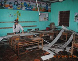 Quảng Bình: Khẩn trương sửa sang lại các trường học bị hư hại