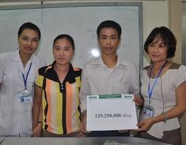 Gần 130 triệu đến với gia đình anh Nguyễn Xuân Hoa