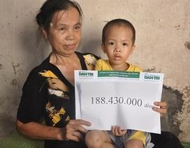 Hơn 188 triệu đến với bé Hùng Cường