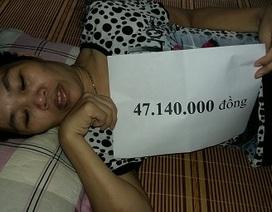 Trao hơn 47 triệu đồng đến chị Vũ Thị Hè
