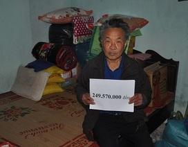 Hơn 249 triệu đồng đến với cha con ông Đoàn Quang Nhiễm
