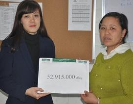 Gần 53 triệu đồng đến với em Phan Thị Thu
