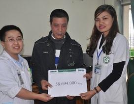 Hơn 58 triệu đồng đến với anh Đặng Đình Tiến