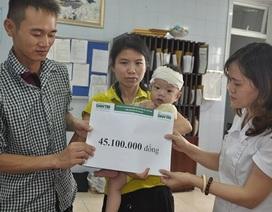 Hơn 45 triệu đồng tiếp tục đến với bé Đạt bị tim
