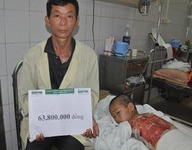 Gần 64 triệu đồng đến với bé dân tộc Dao bị bỏng cồn