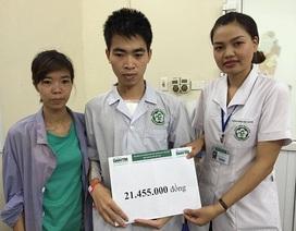 Hơn 21 triệu đồng tiếp tục đến với em Hiền bị tim