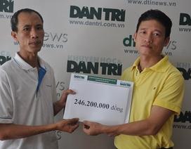 Hơn 306 triệu đồng đến với em Hà Thanh Phú bị tim