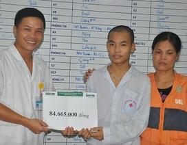 Gần 85 triệu đồng đến với em Vũ Hồng Quang bị ung thư máu